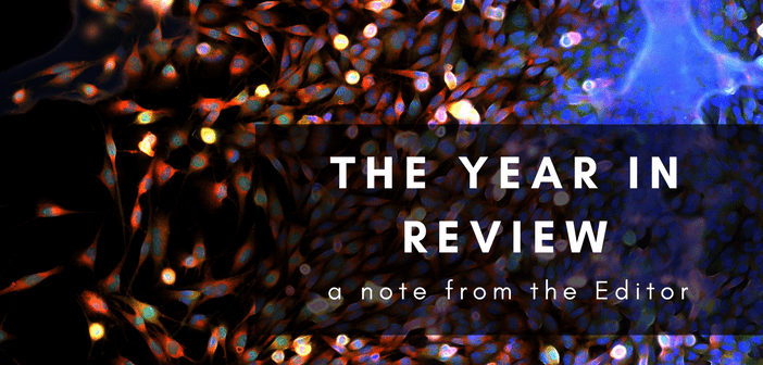 2017 in review – a note from the Editor