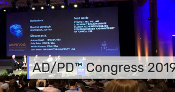 This is an image taken from a main lecture theatre hall during the ADPD Congress 2019.