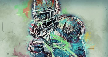 This is an abstract image of an NFL/American football player.