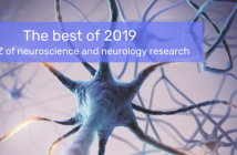 This is an image of a neuron used for a Neuro Central report on the best of 2019, an A to Z round-up of the year.