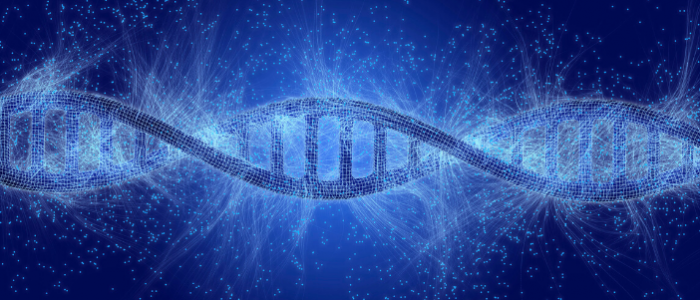 This is a graphical illustration of a DNA helix strand.