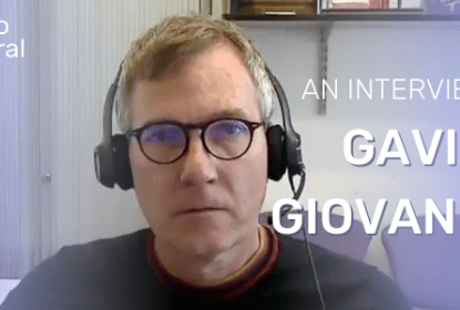 This is a screenshot of Gavin Giovannoni doing a video interview with Neuro Central on the impact that COVID-19 is having on neurological practice.